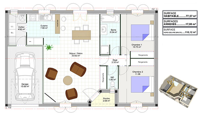 Maison contemporaine - Calupia
